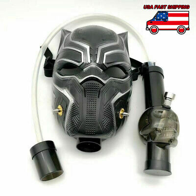Panther Silicone Gas Mask Bong Smoking Water Pipes With Flexible Pipe USA Stock