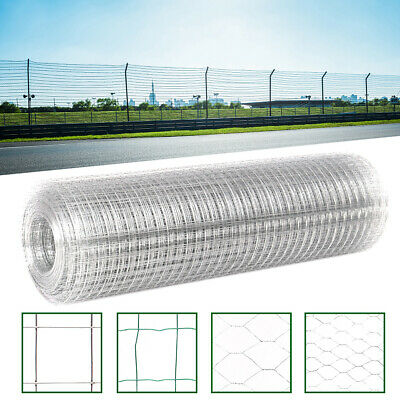 5M-50M Wire Mesh Chicken Rabbit Aviary Fence Steel Metal Garden Netting Fencing