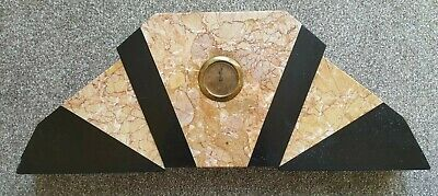 Beautiful Art Deco Marble Mantel Clock