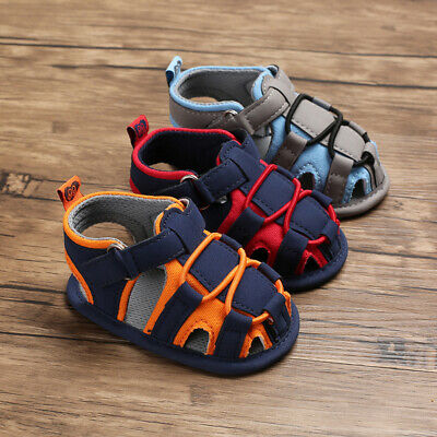 Summer Toddler Newborn Baby Boy Soft Walking Shoes Prewalker Sandals 0-18M US