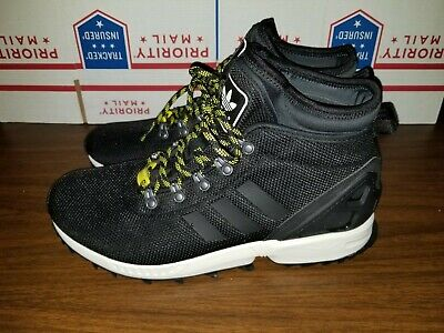 5a9c1553fc1e6 Adidas ZX Flux Winter black Men s high-top sneakers boots water resistant  USED