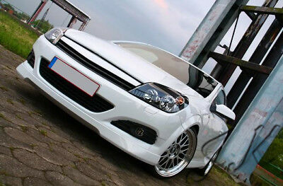 Vauxhall Opel Astra MK5 H Front Lip Bumper Spoiler Diffuser Add On OPC-Line Look
