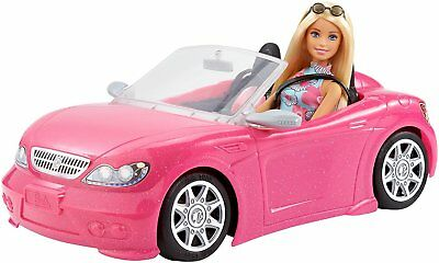 BARBIE Pink Convertible Car And Doll - Sealed Brand New in Box - Age 3 years+