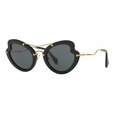 Miu Miu Mu11rs 1ab1a1 Sunglasses Black Sunglasses Sonnenbrille Woman