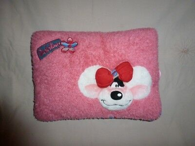 Peluche Doudou Diddl Coussin Diddlina rectangle rose TBE 23x33cm