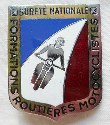 Insigne Obsolète POLICE SURETE NATIONALE ! FORMATIONS ROUTIERES MOTOCYCLISTES