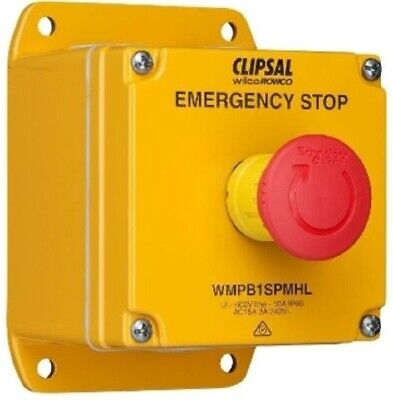 Wilco INDUSTRIAL EMERGENCY STOP PUSHBUTTON STATION Mushroom Head, Yellow