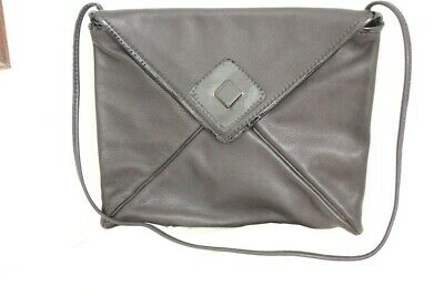 Tramontano Borsa A Spalla Vintage Pelle Nera - Vintage Leather Bag Made In Itay