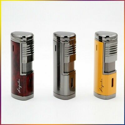 COHIBA Creative Metal Cigar 4 Torch Jet Flame Windproof Cigar Lighter W/Punch