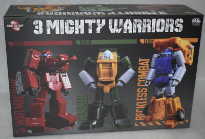 New IN STOCK Transformers FinalVictory FV Three Warriors Brawny Action Figure