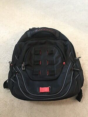 "Samsonite Tectonic 17"" Perfect Fit Laptop Backpack Black/Red"
