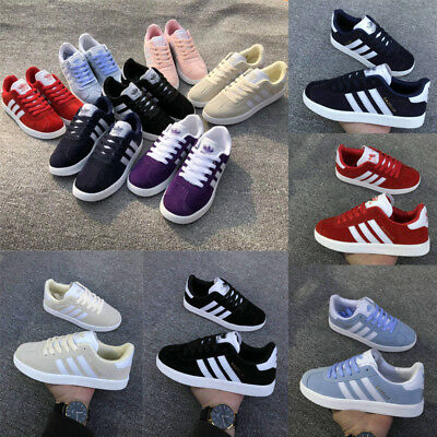 New UK Mens Fashion Stripe Outdoor Sneakers Unisex Sports Running Trainer Shoes