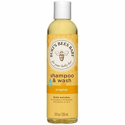 Burt's Bees Baby Bee Burt Shampoo Natural Soft Delicate Skin Hair Wash 235ml NEW