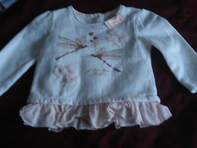 TED BAKER Baby Girls Sweatshirt Top Aged 9-12 Months