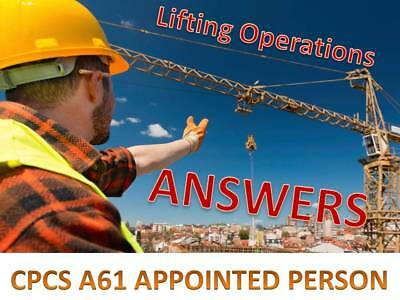 Appointed Person Lifting Operations CPCS A61 Mock Theory Questions Answers