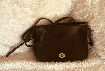 a7d71ba1efb VINTAGE COACH SPECTATOR Court black and brown two tone CrossBody ...