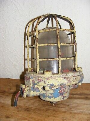 Vintage Caged Lamp & Glass Dome Project For Refurbishment