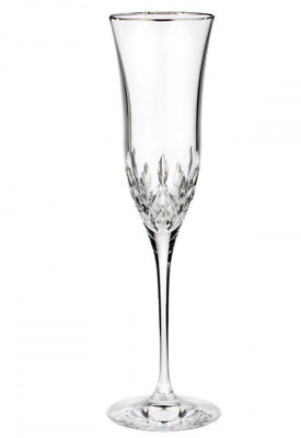 NEW Waterford LISMORE ESSENCE PLATINUM Crystal CHAMPAGNE FLUTE - Glass