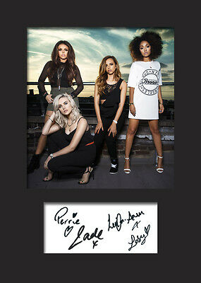 LITTLE MIX #1 Signed Photo Print A5 Mounted Photo Print - FREE DELIVERY