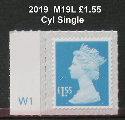 2019 - M19L - £1.55 -  Walsall Reprint - Counter Sheet CYL SINGLE