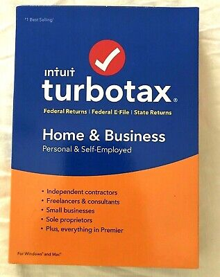 NEW SEALED 2018 TurboTax Home & Business Federal + E-File + State Tax Software