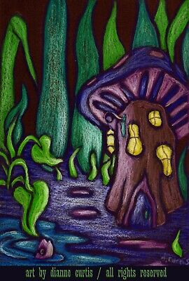 ACEO Alien Dramatic Color Print from orig oil painting dcurtis Ancient Portal