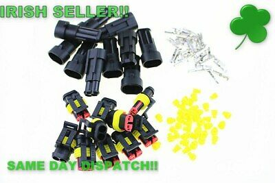 10 pcs Kit 2 Pin Way Waterproof Electrical Wire Connector Plug