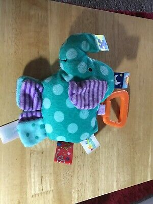 Baby Taggies Elephant Rattles Baby Plush Toy Link R  *