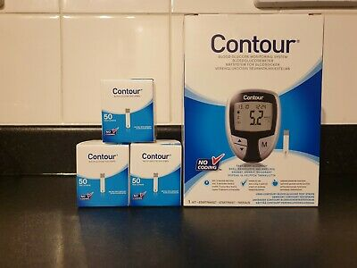 Blood Glucose Monitor (CONTOUR) + 150 TESTING STRIPS!!! RRP GREAT VALUE