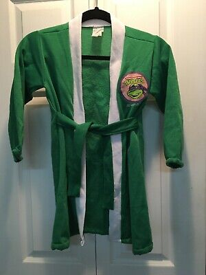 Vintage 1988 Kids Ninja Turtle Robe With Pillow Case