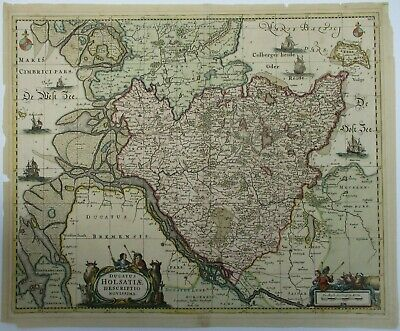 Antique Map of Holstein by Johannes Jansson 1680