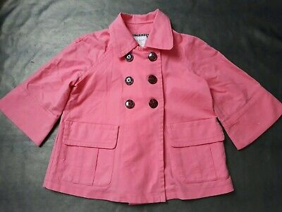 Old Navy Coral Cropped Sleeved /A Line Summer Jacket  -Girls 10-12yrs