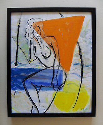 Johannes Rother-Glass*1956 Original abstr. Akt-Figuration 2 - sign.,Öl /Zertifik