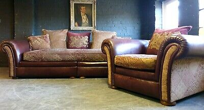30.Cleveland Tetrad Vintage 4 Seater Leather Sofa Chair RRP £6495.00 DELIVERY AV