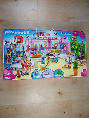 Playmobil 9078 City Life Shopping Plaza with SportsPet and Clothing Retailers T