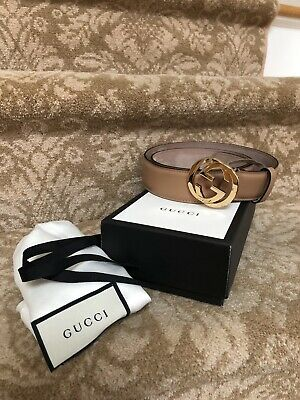 066e8a57c65  395 AUTH NEW GUCCI BELT 368193 MENS GREY SUEDE LEATHER SQUARE ...