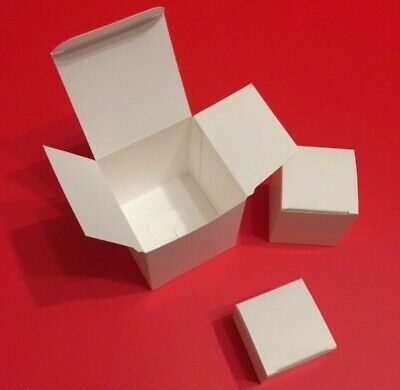 30x Multipurpose Packaging  White Card Storage Boxes~Square Cartons ~ 3 sizes