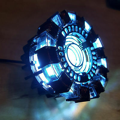 Marvel The Avengers Iron Man Tony DIY Arc Reactor Lamp Kit Or Builted Collector