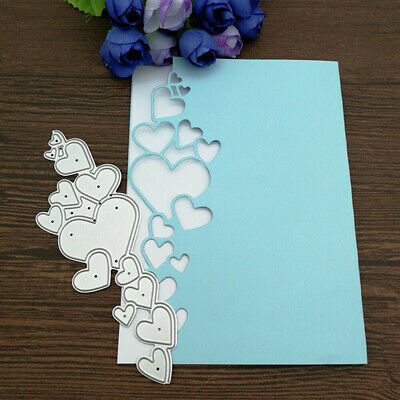 Heart Lace Edge Frame Metal Cutting Die Stencils Scrapbook Decor Embossing DIY
