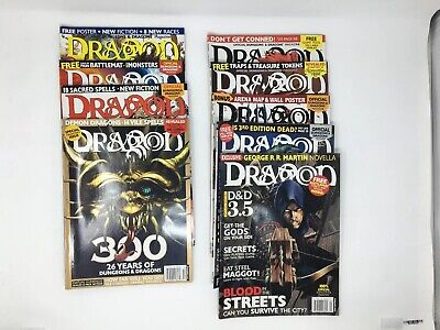 DRAGON DUNGEON MAGAZINE Lot x8 D&D Dungeons & Dragons OOP