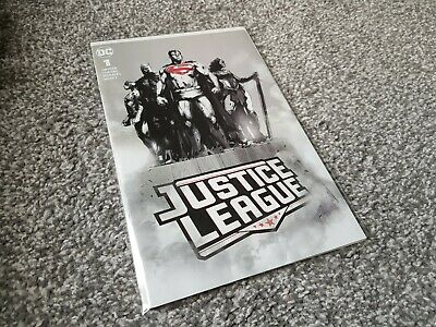 Justice League #1 Forbidden Planet B&W Variant (2018) New Dc Universe Series