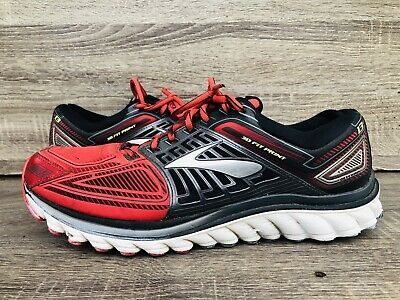 d6041753580 Brooks GLYCERIN 13 Running Athletic Shoes Men s Red Gray Black SIZE 12 D