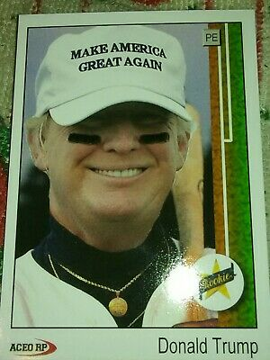 Donald Trump Make America Great Again Upper Deck Style Card ACEO USA