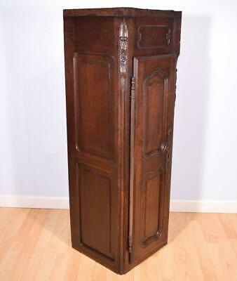 Antique French Provincial Solid Oak Wall Cabinet