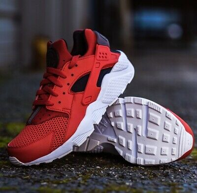 ce3d4a56b178 NIKE AIR HUARACHE 318429-609 Habanero Red Black Men s Running Shoes ...
