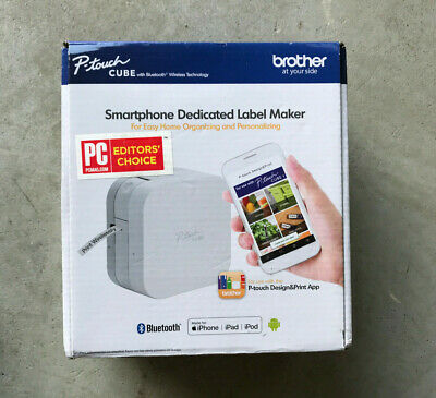 BRAND NEW! Brother P-touch Cube Smartphone Label Maker with Bluetooth - White