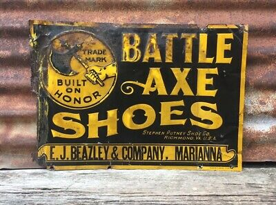 CRATE LABEL VINTAGE BATTLE AXE SUIT OF ARMOR WEAPONRY 1930S KNIGHT ORIGINAL