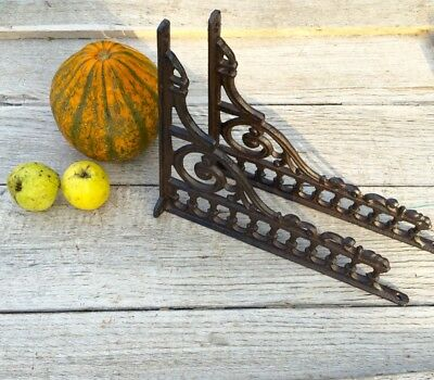 Wall Bracket for Shelf, Antique Optic, from Cast Iron Crafted