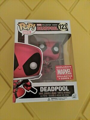 Funko POP Marvel Universe  Deadpool Leaping #123 Collector Corps Exclusive