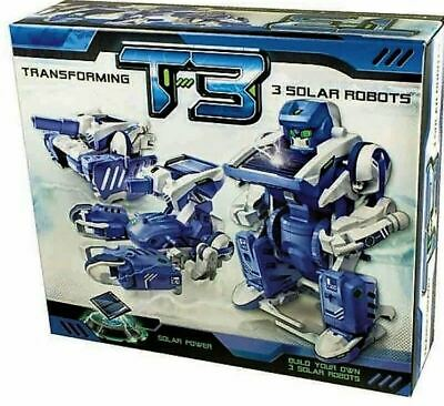 3-in-1 Educational Solar POWERED Transforming Robot Kit T3 - DIY Learn Science